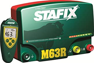 Stafix 63.0-Joule, Low-Impedance, 220/240-Volt AC Electric Fence Charger with Remote
