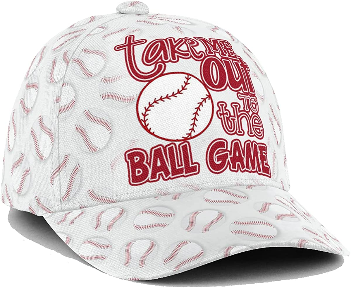 Customized Name 3D Cap Hat Baseball The Ball Game to Na Department store Text low-pricing
