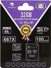 Amplim TF Card 32GB Micro SD Card 2 Pack Plus Adapter. High Speed 32 GB Class 10 MicroSDHC Micro SDHC Mini SD Memory Card ...