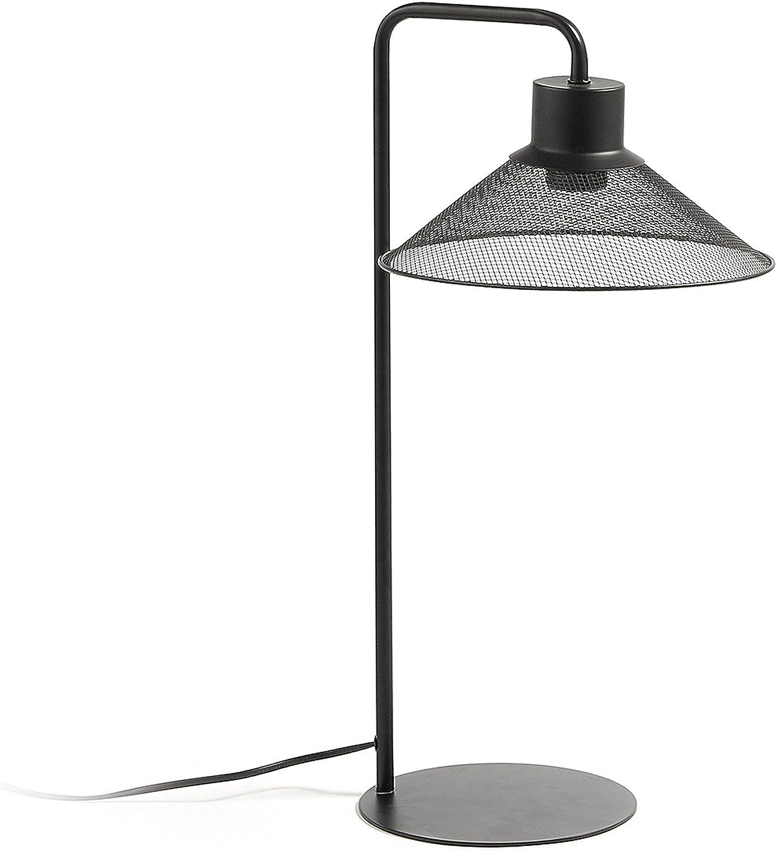 Kave Home MODO Tafellamp - Metaal - Zwart