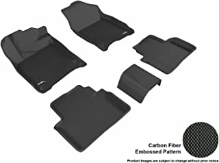 3D MAXpider L1HD07401509 Weather Mat (Custom Fit Black Kagu Rubber Complete Set for Select Honda Civic Coupe/Sedan Models)
