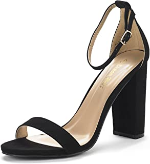 Best 4 inch black chunky heels Reviews