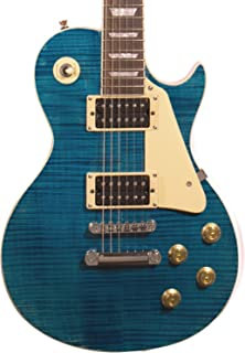 Sawtooth ST-H58S-CBFL Heritage Series Maple Top Electric Guitar, Cali Blue Flame