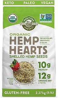 Manitoba Harvest Organic Hemp Hearts Shelled Hemp Seeds, 5lb; with 10g Protein & 12g Omegas per Serving, Non-GMO, Gluten Free
