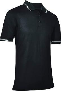 Champro - Polo de béisbol/sóftbol, poliéster, Color Negro, tamaño Mediano
