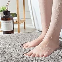 Ultra Soft Bath Rug, Chenille Microfiber Water Absorbent Non-Slip Shag Mat RectangularArea Rug Mats for Floor Kitchen (Gra...