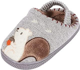 FWEIP Winter Warm Non-slip Cartoon Children's Cotton Shoes Baby Home Cotton Slippers