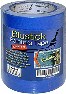 Blue Painters Tape | Medium Adhesive | 14 Day Clean Release Masking Tape | No Residue | DIY or Professional Painter | 6 Pack, 1 Inch x 60 Yard Length, 360 Yards in Total … (6 Rolls)