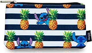 Loungefly Stitch Stripes Pineapple AOP Pencil Case