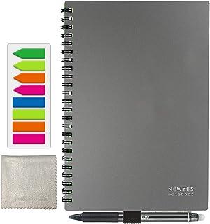 書いてもすぐ消せるスマートノート A5 半永久的に使える メモ帳 データ化もできる デジタルノート 繰り返し使える 電子ぺーパー 耐水 文房具 ドット入り罫線+ドット方眼 50枚 学習帳 練習帳 付箋 消せるペン付き