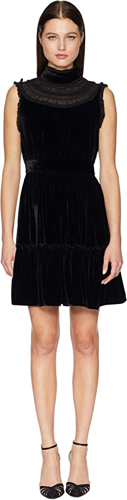 Wild Ones Velvet Lace Trim Dress