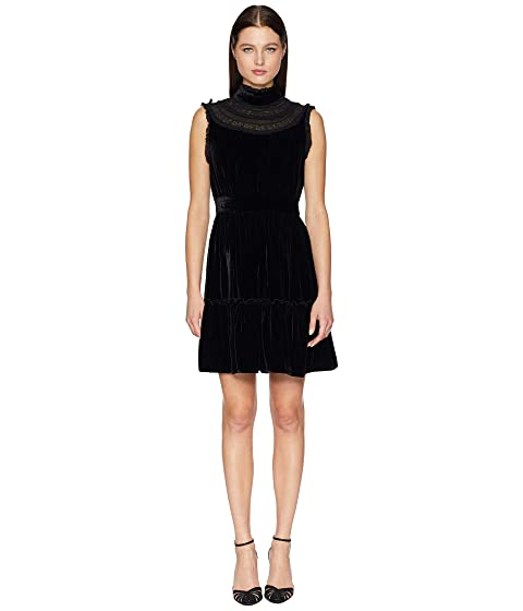 Kate Spade New York Wild Ones Velvet Lace Trim Dress