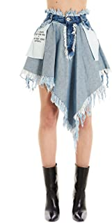 UNRAVEL PROJECT Luxury Fashion Womens UWYF021R20DEN0014500 Blue Skirt |