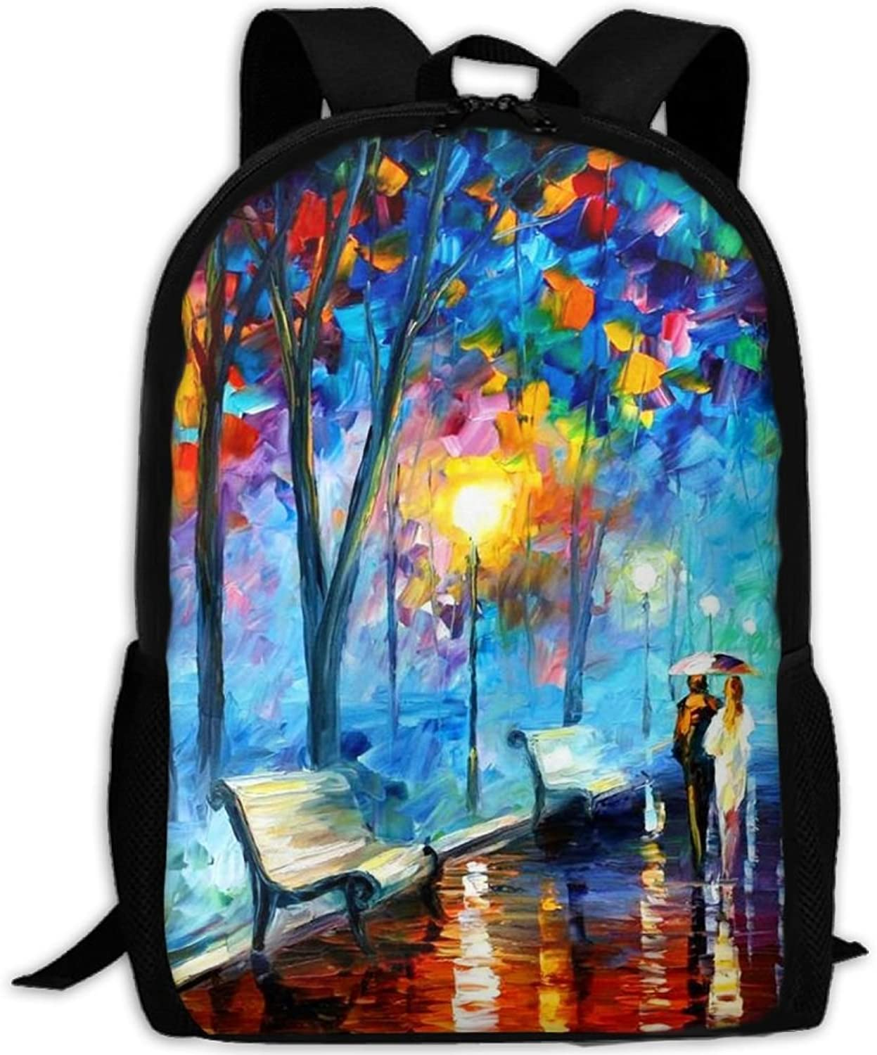 a12009c6543e Backpack Laptop Travel School Bags A Romantic Walk Daypack Shoulder ...