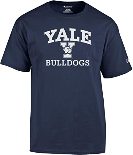 Champion NCAA Hommes's Shirt manche courte Officially Licensed Team Couleur Tee, Yale Bulldogs, X-grand