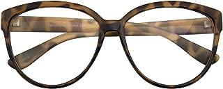 Womens Oversize Retro Nerd Clear Lens Fashion Cat Eye Geek Glasses