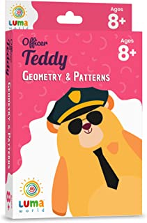 Luma World Officer Teddy Educational Game-Based Math Flash Cards with a Fun Magic Glass to View Hidden Answers for Ages 8+...