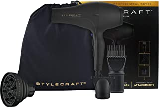 StyleCraft Tri-Plex 3000 Professional Hair Dryer with Diffuser