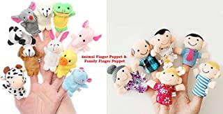 House of Quirk Cute Animal Style Finger Puppets - 10 Pcs