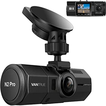 Vantrue N2 Pro Uber Dual 1080P Dash Cam, 2.5K 1440P Dash Cam, Front and Inside Accident Car Dash Camera with Infrared Night Vision, 24hr Motion Detection Parking Mode, G-Sensor, Support 256GB max