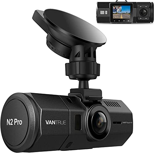 Vantrue N2 Pro Dual Dash Cam Dual 1920x1080P Infrared Night Vision Front and Inside Dash Cam (2.5K Single Front Recor...