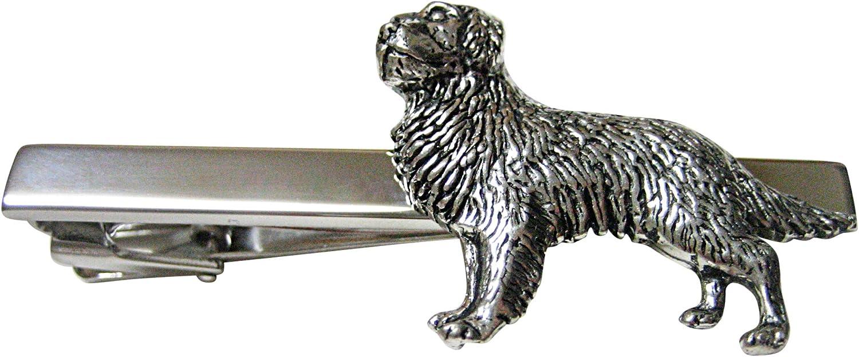 Golden Retriever Dog Square Tie Clip