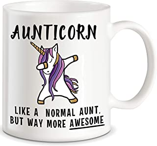 Aunticorn Funny Aunt Coffee Mug Mother's Day Gift for Aunty Best Gift for Aunties Siblings Sisters from Niece Nephew Siste...