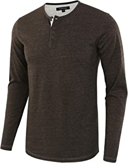 faded glory men's long sleeve thermal henley