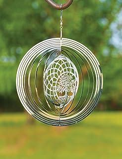 VP Home Kinetic 3D Metal Garden Wind Spinner (Tree of Life Dreamcatcher)