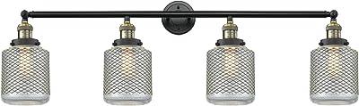 Innovations 215-BAB-S-G262 4 Light Adjustable Bathroom Fixture, Black Antique Brass