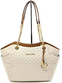 d1d9202464939f MICHAEL Michael Kors Women's Jet Set Travel Saffiano Large Chain Shoulder  Tote, Style 35T5GTVT3L (