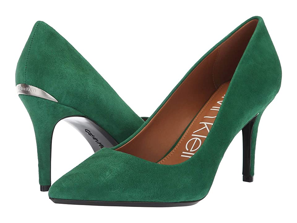 Calvin Klein Gayle Pump (Grass Green Leather Suede) High Heels
