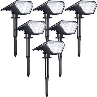Biling Solar Spotlights Outdoor, 2-in-1 Solar Landscape Lights 12 LED Bulbs Solar Powered Lights IP67 Waterproof Adjustabl...