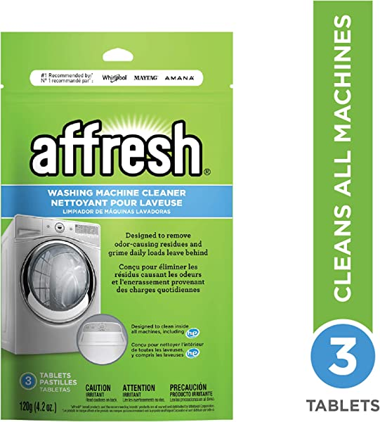 Affresh W10135699 Whirlpool High Efficiency Washer Cleaner 3 Tablets 4 2 Ounce