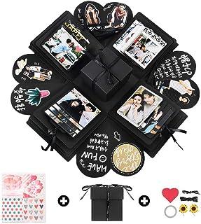 Creative Surprise Explosion Box - Cute Memory & Love Picture as Valentines, Birthday, Engagement, Anniversary DIY Scrapbook Album Gift Kit