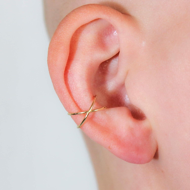 Ear Cuff Earring Criss Cross Style 14K for Gold in Sale Orbital Rose New popularity