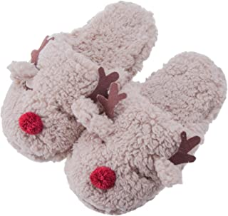 MaaMgic Womens Fuzzy Slippers Non-Skid Animal Slippers with Memory Foam Ladies Cute Bedroom Indoor Winter Slippers