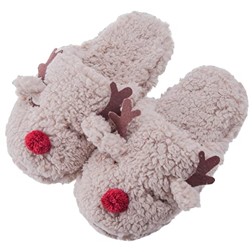 36237c1de08f MaaMgic Womens Fuzzy Slippers Non-Skid Animal Slippers with Memory Foam  Ladies Cute Bedroom Indoor