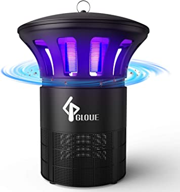 GLOUE Bug Zapper Indoor, Mosquito Killer Inhaler with Quiet Insects Traps Bugs Fruit Fly Gnat Mosquito Killer,LED Light Inhal