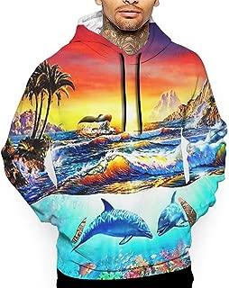 Go KJ Unisex Incredible Dolphin Bay Hoodies Fashion Pullover Hood Jackets Sweatshirt