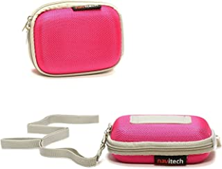 Navitech Portable Pink Hard Water Resistant mp3 / Mini DAB FM Digital Music Player Radio Case/Cover Compatible with The TrekStor i.Beat cebrax