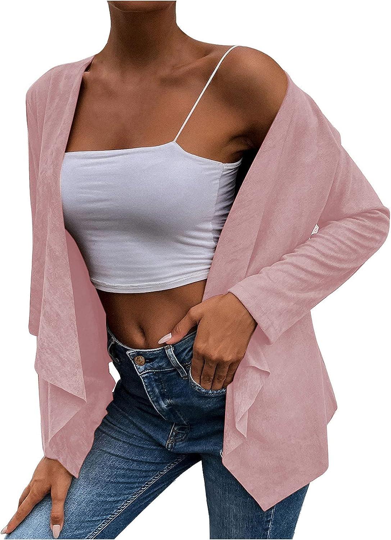 Women Autumn Casual Fashion Solid Color Coat Cardigan Top Blouse Warm Coat Overcoat Faux Fur Jacket Shaggy Fleece