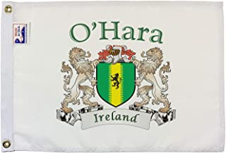 O'Hara Irish Coat of Arms Small White Flag - 12