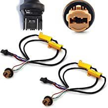 iJDMTOY (2) Hyper Flash/Bulb Out Error Fix Wiring Adapters for 7443 7444 T20 LED Bulbs Turn Signal or Tail Brake Lights