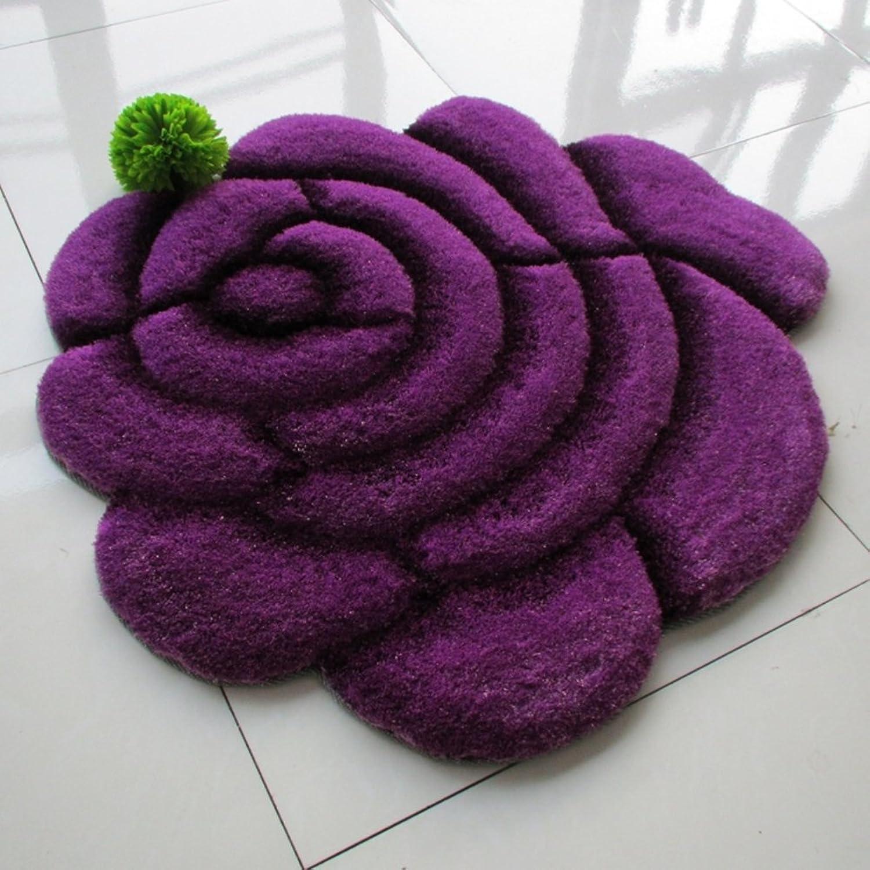 3D Mats pink Mats Computer Chair Mat Shaped Bedside Mat Anti-Slipping Mats-C 90x90cm(35x35inch)