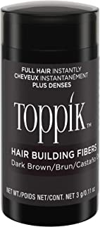 Toppik Hair Building Fibers, Dark Brown, 0.11 oz.