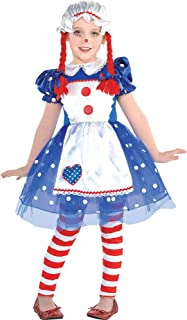 amscan Girls Rag Dolly Costume- Small (4-6)