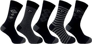 Pierre Cardin, Pack de 5 calcetines de vestir clásicos cómodos con diseño hombre Reino Unido 7-11