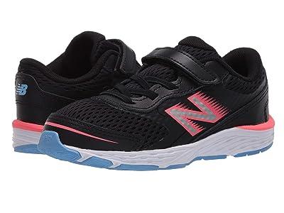 New Balance Kids 680v6 (Infant/Toddler) (Black/Tahitian Pink) Girls Shoes