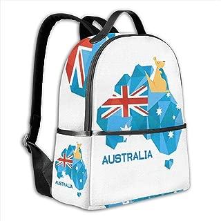 XIVEIER Personalized Stralia Flag Map Australia National Pride Funny Travel Backpack For Women